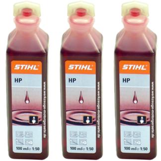 3x Stihl 2 Stroke Oil One Shot 100ml Bottles 0781 319 8401