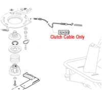 AL-KO Ride On Mower Blade Engagement Cable (524302)