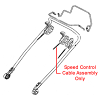 AL-KO Speed Control Cable Assembly 470152