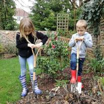 Child's Fork, Spade, Hand Fork & Trowel