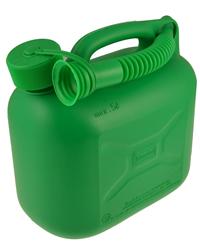 Green 5 Litre Plastic Fuel Can