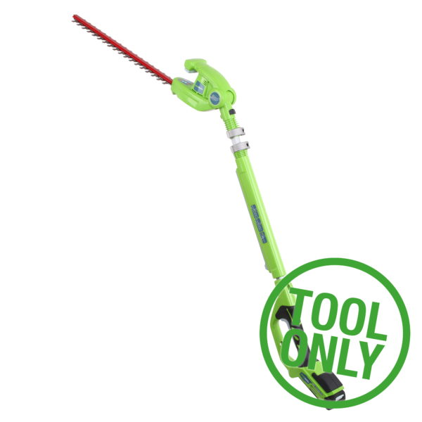 Greenworks G24PH51 24V Long Reach Hedge Trimmer (Bare Tool)