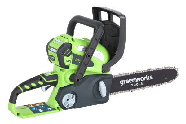 """Greenworks G40CS30K2 40v 30cm (12"""") Chainsaw with 2Ah battery and charger"""