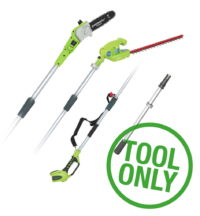 Greenworks G40PSH 40V Long Reach Hedge Trimmer & Pruner (Bare Tool)