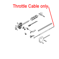Mitox Brushcutter / Multi-tool Throttle Cable MICG260.2.2