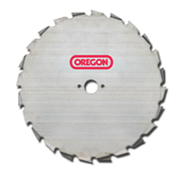 "Oregon 24 Tooth blade Dimension:- 9"" Dia - 25.4mm Centre – 1.8mm Thick. (EIA Profile)"