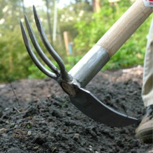 Sneeboer Long Handled Fork And Mattock