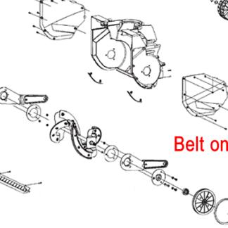Stiga Snow Electric Blower Belt 1811-2639-01