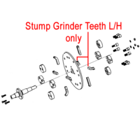 Weibang Stump Grinder Teeth Left Hand DSZ0000091/04