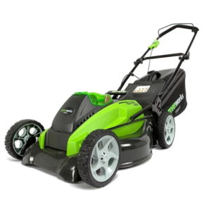 Greenworks Steel Deck 40v 45cm Cordless Lawnmower with x2 2.5ah Batteries and Charger