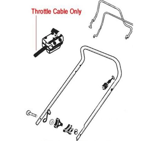 AL-KO Lawn mower Throttle Cable 333935