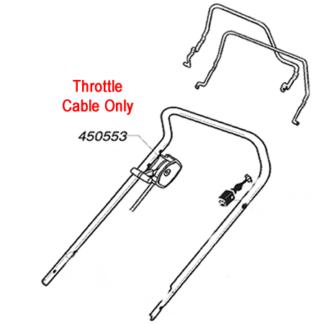 AL-KO Lawnmower Throttle Cable 450553