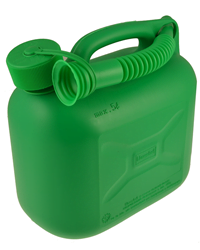 Green 5 Litre Plastic Fuel Can