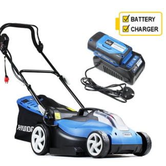 Hyundai HYM60Li380 60v Cordless 38cm Rear Roller Lawn mower C/W Battery and Charger