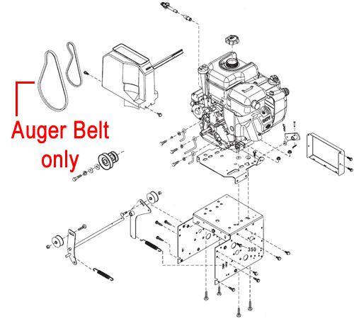 Stiga Snow 1171 & 1381 Pro HST Drive Belt Auger 1812-2409-01