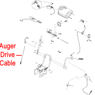 Stiga Snow 1171 & 1381 Pro HST Drive Cable Auger 1812-2183-01