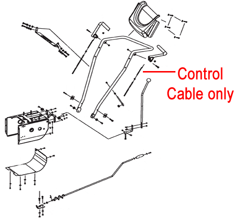 Stiga Snow Cube Control Cable 1881-2586-01