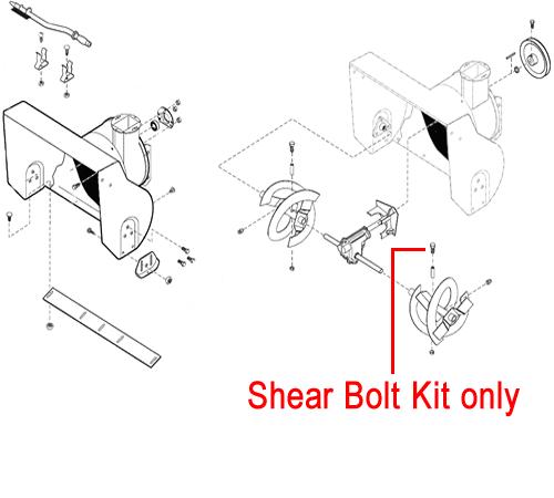 Stiga Snow Flake, Power & Blizzard Shear Bolt Kit 1812-9005-01