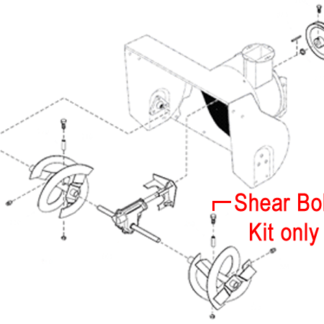 Stiga Snow Flake & Snow Power Shear Bolt Kit 1812-9006-01