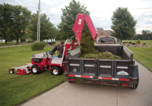 Collect Mulched Grass And Leaves