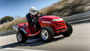 Honda High-Speed Mower On The Track