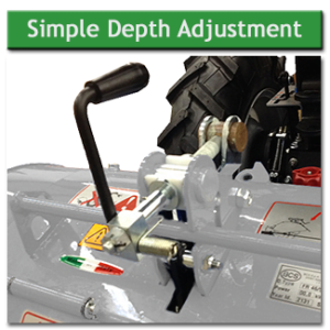 BCS 750 Simple Lever Depth Adjustment