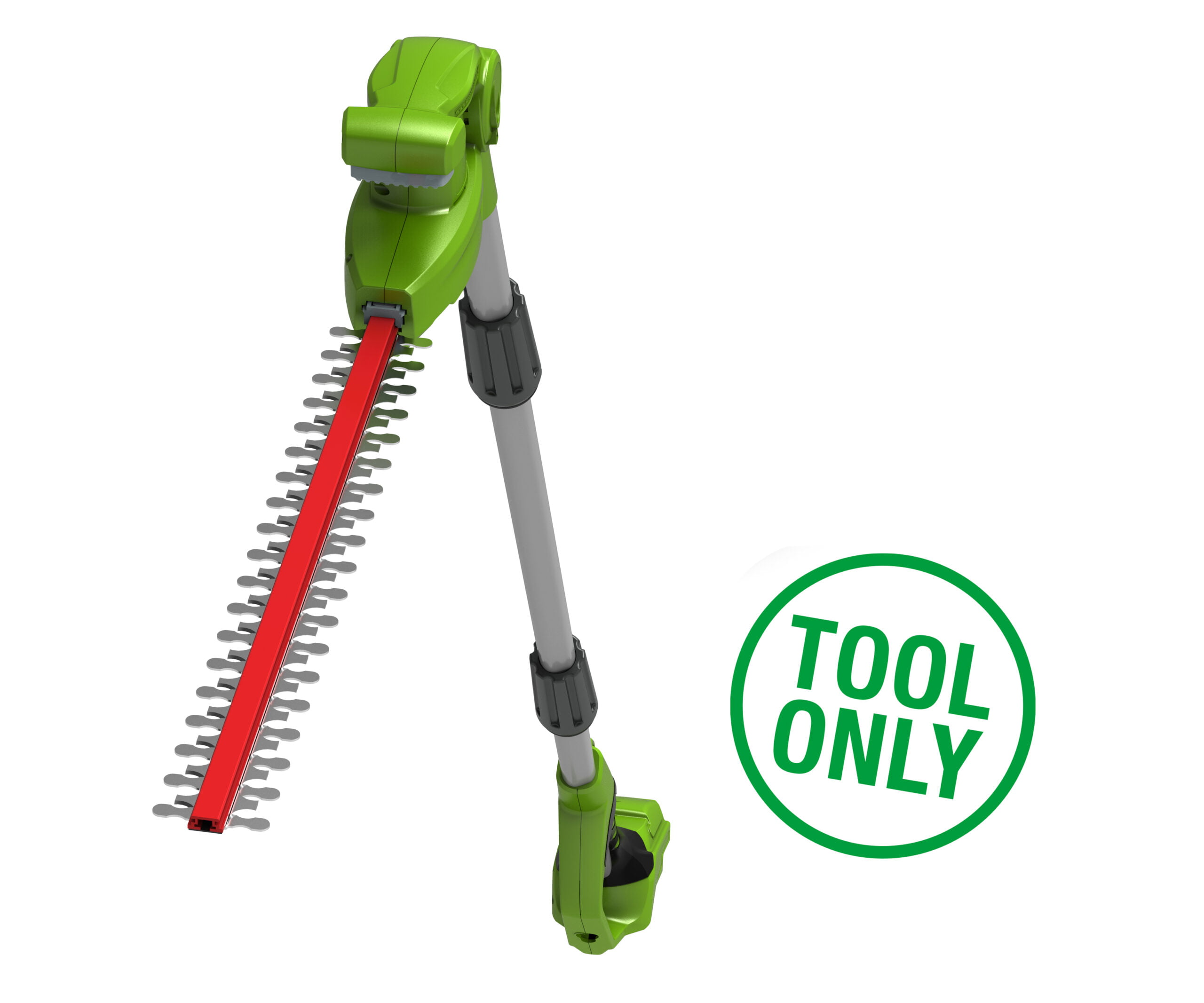 Greenworks 24V 51cm Long Reach Split Shaft Cordless Hedge Trimmer (No Battery or Charger)