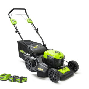 Greenworks GD40LM46SPK2X 46cm 40v Walk Behind Mower Self Propelled (2 x 2Ah Batteries and Charger Included)