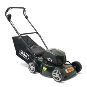 "Webb R16LIHP 16"" Push Steel Deck Cordless Rotary Lawnmower"
