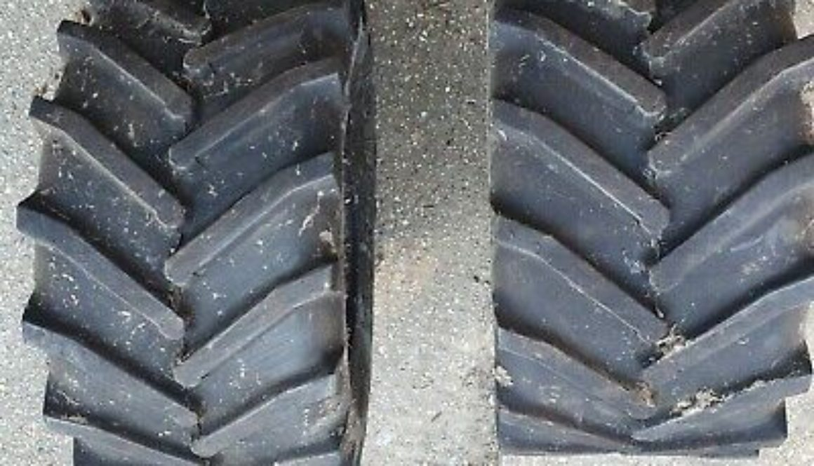 Four hardly used tyres for sale, originally fitted on Ferris zero turn ride on mower. ...