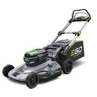 EGO Power + LM2122ESP Cordless Self-Propelled mower c/w battery and charger