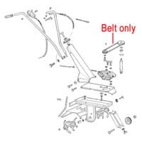 AL-KO Cultivator Drive Belt XPZ630 P109321005184