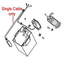 AL-KO Electrical Cable (to Capacitor) 506868
