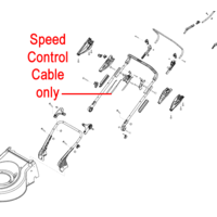 AL-KO Lawnmower Bowden Speed Control Cable 453750