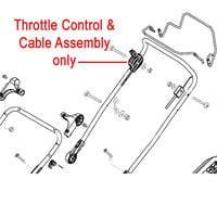 AL-KO Replacement Throttle Cable (AK451849)