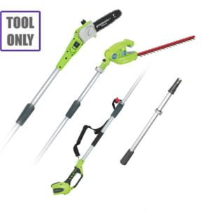Greenworks 40v Long Reach Hedgecutter / Pruner c/w battery & charger