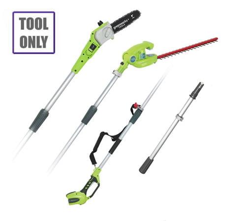 Greenworks 40v Long Reach Hedgecutter / Pruner c/w battery & charger