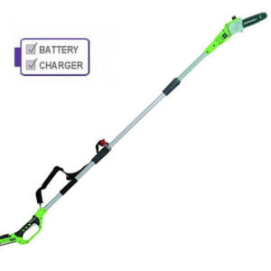 Greenworks G24PSK2 24V Polesaw c/w 2Ah Battery and Charger