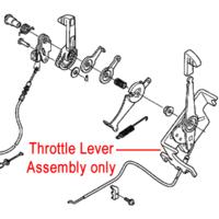 Honda Throttle Assembly fits HRB476CQXE, HRB476C1QXE p/n 17850-VK8-013