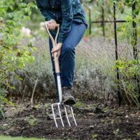 Long Handled Stainless Steel Digging Fork