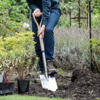 Long Handled Stainless Steel Treaded Digging Spade
