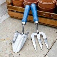 RHS British Meadow Trowel & Fork Set