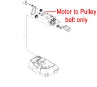 AL-KO 38VLE Scarifier Motor to Drive Belt (AK463782)