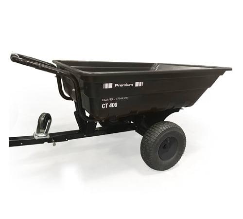 AL-KO CT400 Premium Tow & Push Tipping Garden Trailer