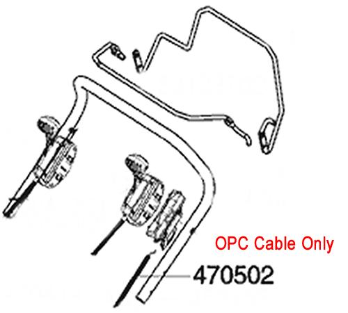 AL-KO Lawnmower OPC Cable 470502