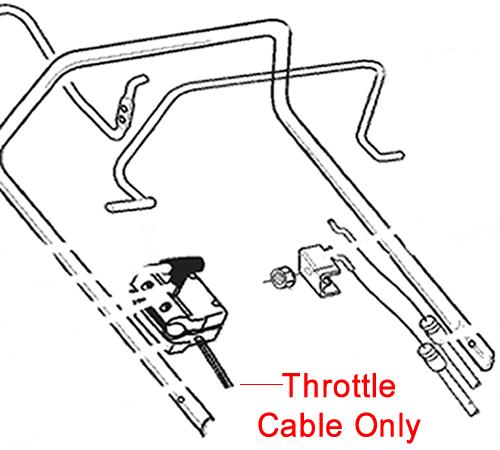 AL-KO Lawnmower Throttle Cable 332980