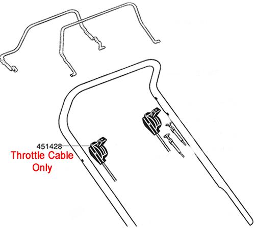 AL-KO Lawnmower Throttle Cable 451428