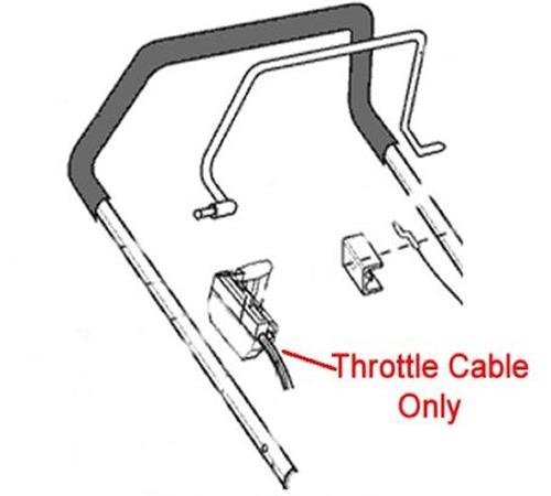 AL-KO Lawnmower Throttle Cable 451849