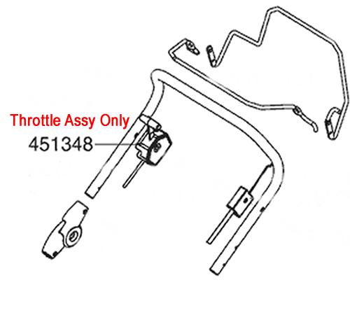 AL-KO Lawnmower Throttle Cable 452670