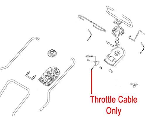 AL-KO Lawnmower Throttle Cable 460894